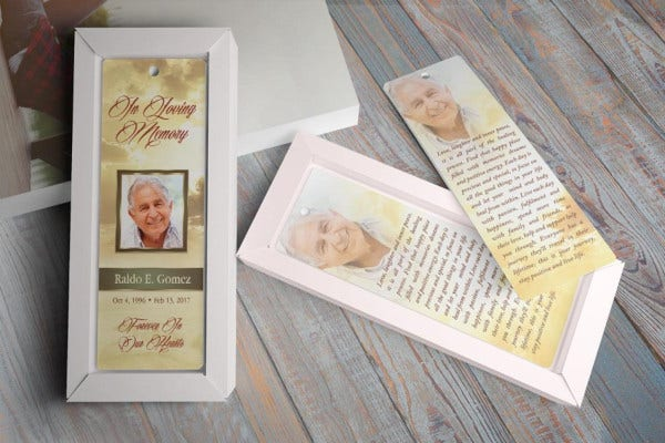 forever-funeral-bookmark-template