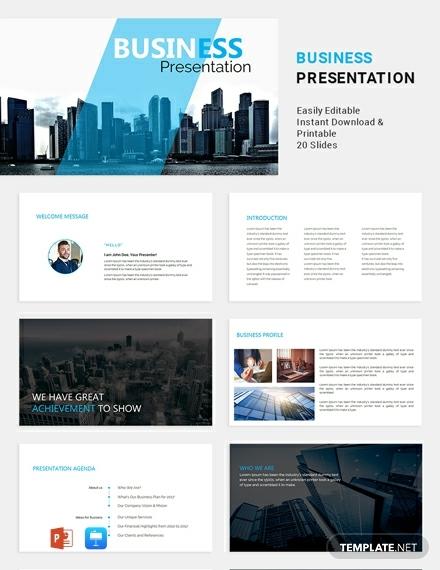 formal business powerpoint presentation design
