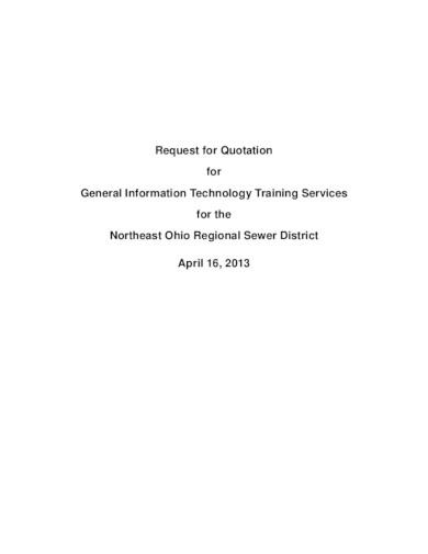 formal training quotation
