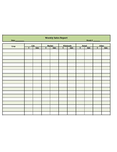 formal-weekly-sales-report-template