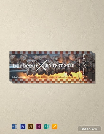 free bbq event ticket template 440x570 1
