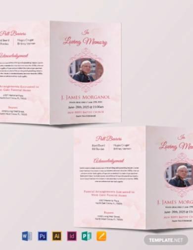 free bi fold funeral brochure