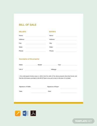 free-bill-of-sale-template
