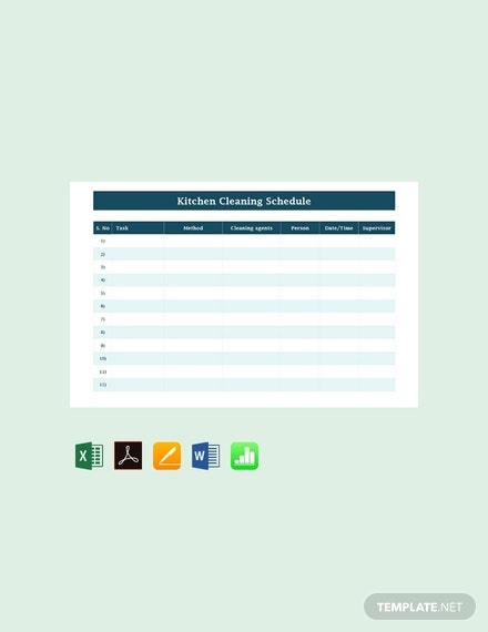 free blank kitchen cleaning schedule template 440x570 1