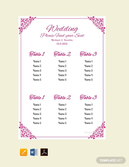 free bridal shower wedding seating chart template 440x570 1