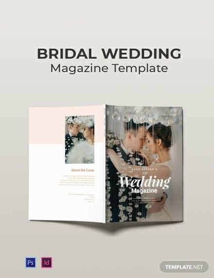 free bridal wedding magazine template 440x570 1