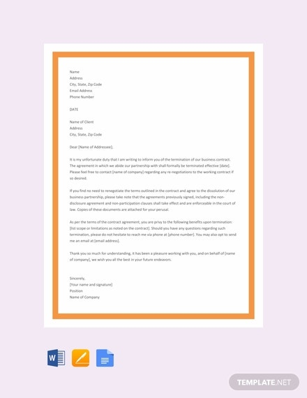 free business contract termination letter template 440x570 11