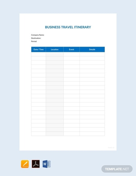 free business travel itinerary template 440x570 1