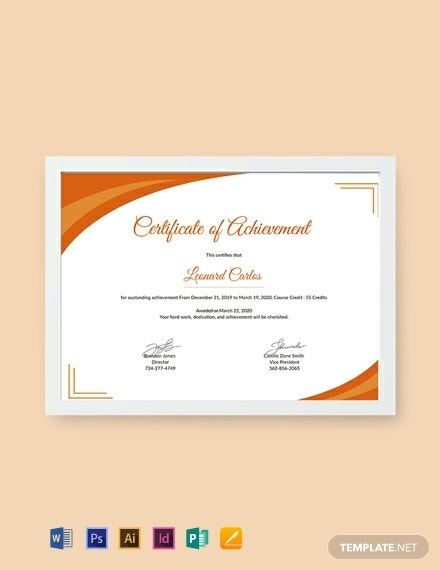 free certificate of achievement template 440x570 1