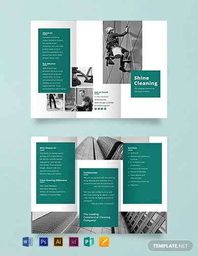 free cleaning service brochure template