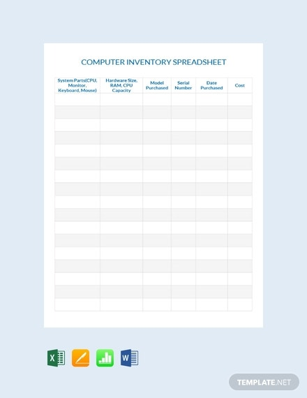 free computer inventory spreadsheet template 440x570 1