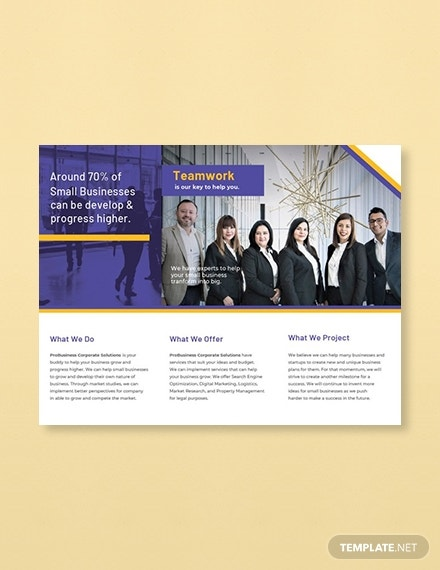free corporate event business brochure template