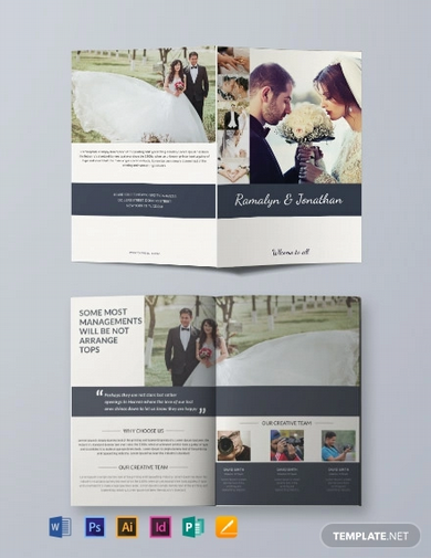 free creative wedding bifold brochure template
