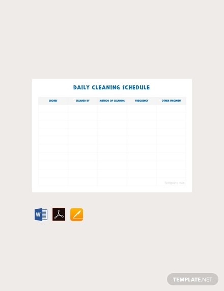 free daily cleaning schedule template 440x570 1