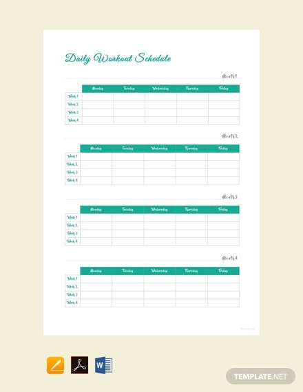 free daily workout schedule template 440x570 1