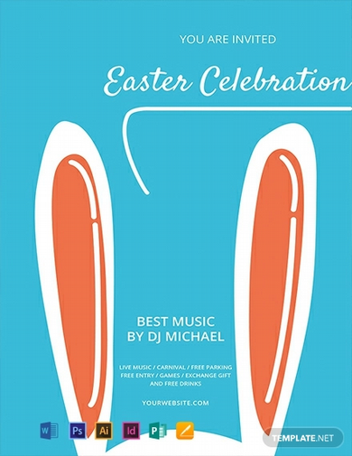 free easter celebration flyer template