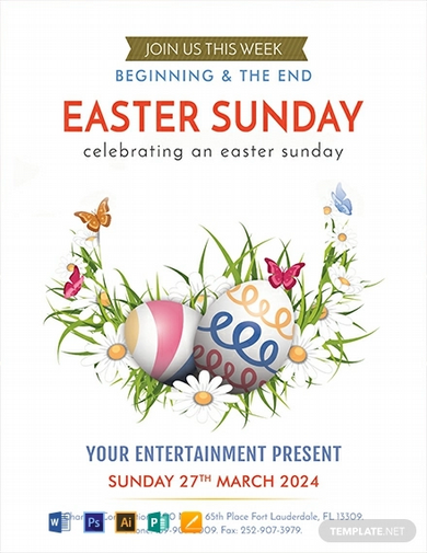 free easter egg sunday flyer template