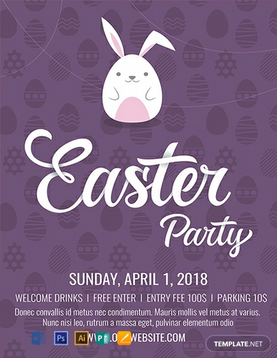 free easter flyer template