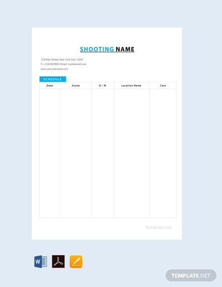 free film shooting schedule template 440x570 1
