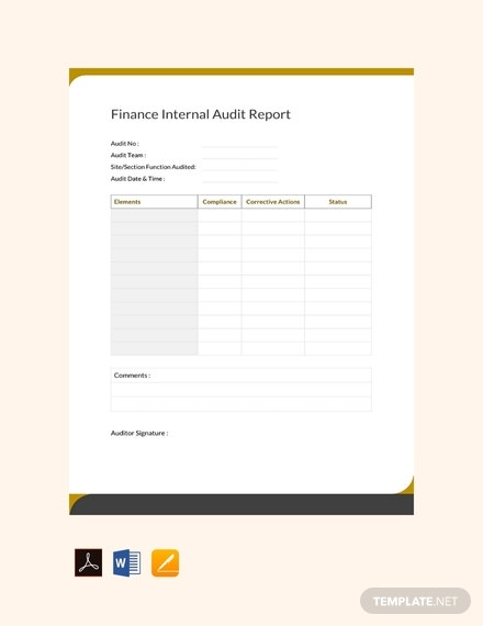 free finance internal audit report template 440x570 1