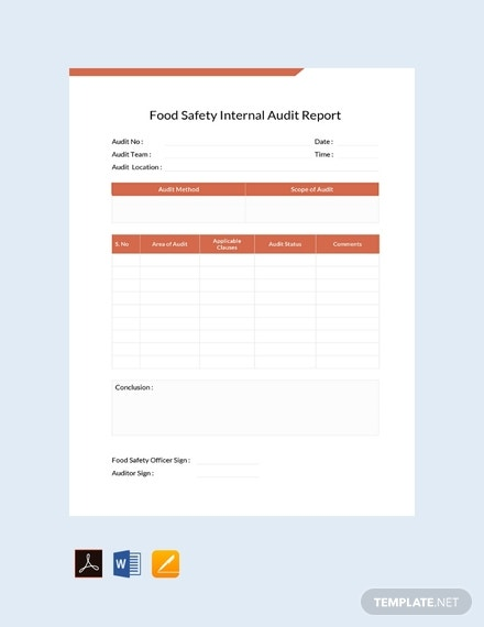 free food safety internal audit report template 440x570 1