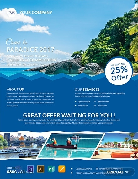 free fresh travel flyer template 440x570 1