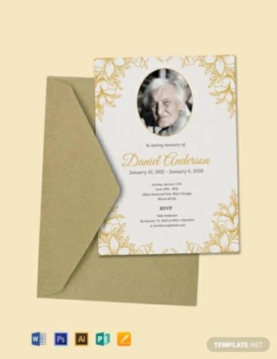 free funeral ceremony invitation