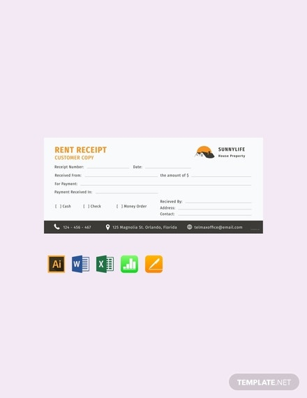 free house rent receipt template 440x570 1