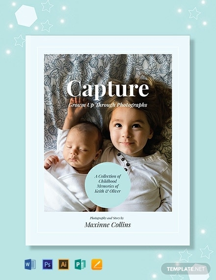 free kids photo book cover template 440x570 1 1
