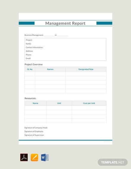 free management report example template 440x570 1