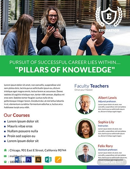 free modern education flyer 440x570 1