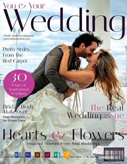 free modern wedding magazine cover template 440x570 1