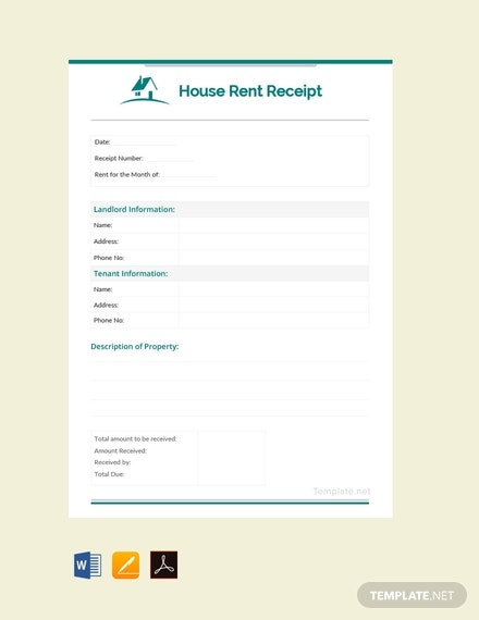 free monthly house rent receipt template 440x570 1