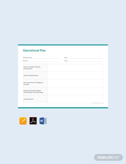 free operational plan template 440x570 1