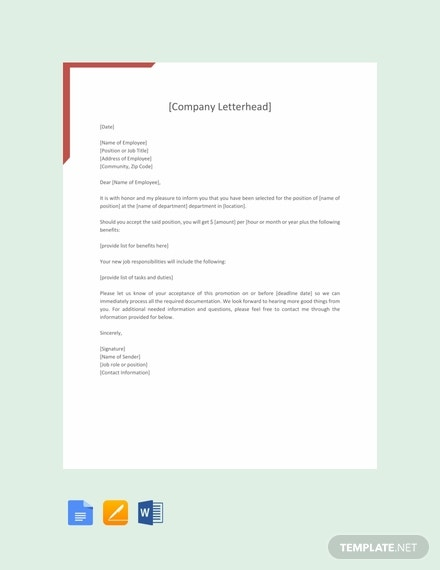 free promotion letter sample 440x570 1