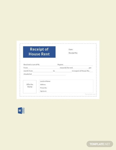 free receipt template of house rent 440x570 1