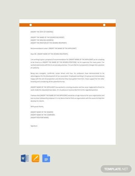 free recommendation letter template for promotion 440x570 1