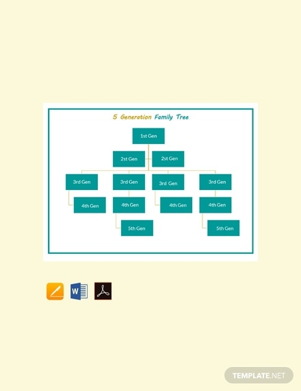 free sample 5 generation family tree template 440x570 1