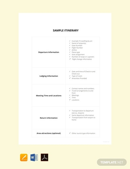 free sample itinerary template 440x570 1