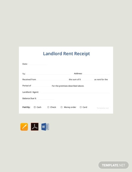 free sample landlord rent receipt template 440x570 1