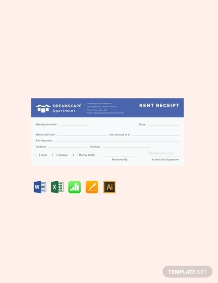 free simple apartment rent receipt template 440x570 1
