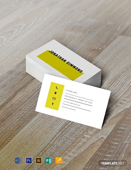 free simple business card template 440x570 1