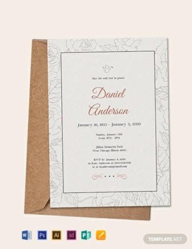 free simple funeral invitation