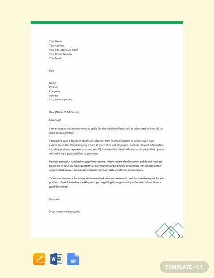 free simple letter of intent template 440x570 1