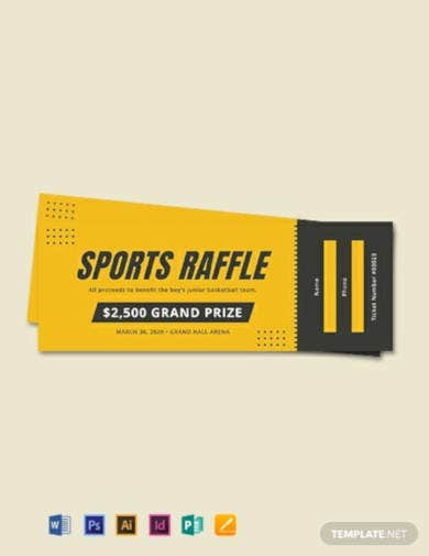 free sports raffle ticket