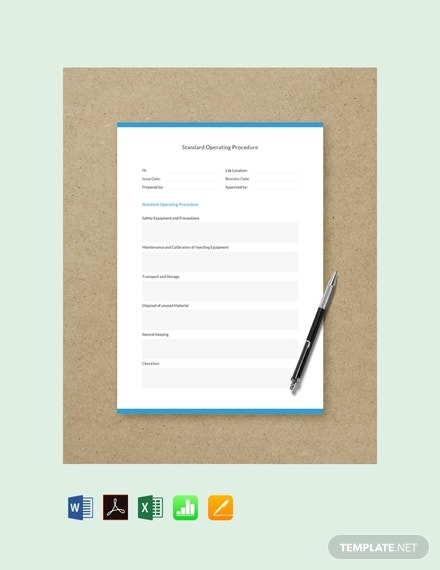 free standard operating procedure template 440x570 1