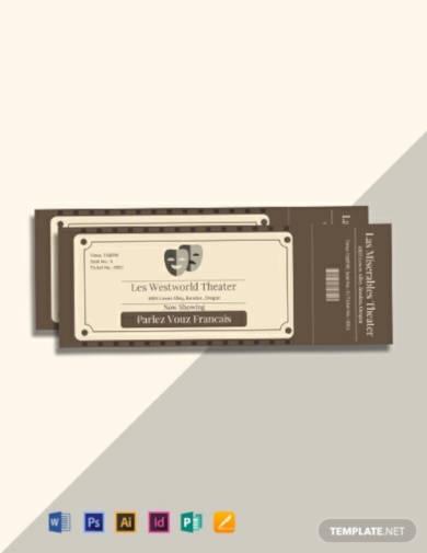 free vintage admission ticket