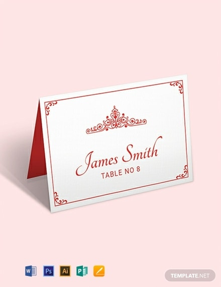 free vintage wedding place card template 440x570 1