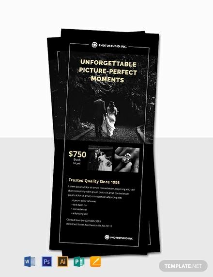 free wedding photographer rack card template 440x570 1