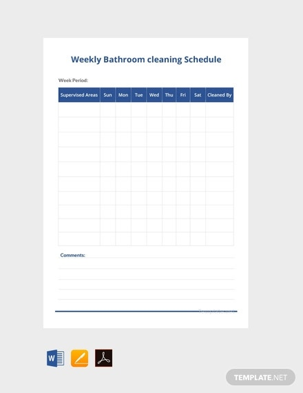 free weekly bathroom cleaning schedule template 440x570 1